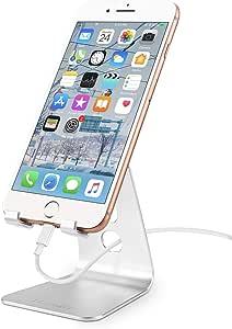 【HANDIC 2020強化版】スマホスタンド ホルダー 携帯電話卓上スタンド , 卓上 充電スタンド,HANDIC スマホ スタンド 角度調整可能: 横, 縦。スマフォスタンド, アイフォンデスク置き台。Nintendo Switch、iphone、ipad、android 対応