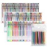 LIHAO ジェルボールペン 72色セット カラーペン 多色ペン カラフルペン 中性 蛍光ペン...