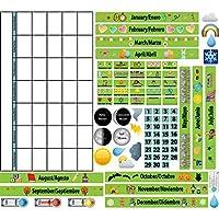 Mona Melisa Designs Mona Melisa Designs Peel Play and Learn Wall Play Set Calendar Playset [並行輸入品]