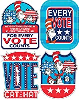 Eureka Stickers, Badges Cat in the Hat for President (659581) by Eureka