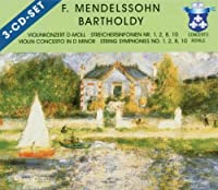Mendelssohn: Violin Concerto in D minor; String Symphonies Nos. 1, 2, 8 & 10; Etc. [Germany]