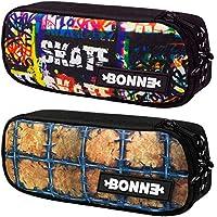 Bonne Pencil Case - Bargain Set of 2 Pencil Cases for Boys - Popular Designs - SK8Tag & Barbwire