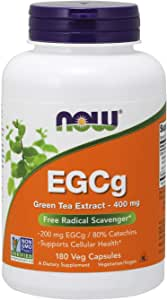[海外直送品] ナウフーズ  EGCg Green Tea Extract 180 Vcaps 400Mg