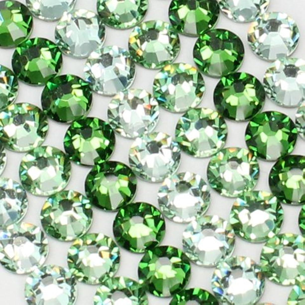 苦しめるジェームズダイソン王族お試しアートMIX[グリーン]クリソライト、ペリドット、ファーングリーン/スワロフスキー(Swarovski)/ラインストーン ss12(各30粒)