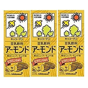 キッコーマン 豆乳飲料アーモンド 200ml×3本