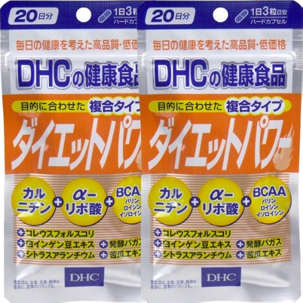 スラッシュ正確保安DHC ダイエットパワー 20日分 60粒 ×2個セット