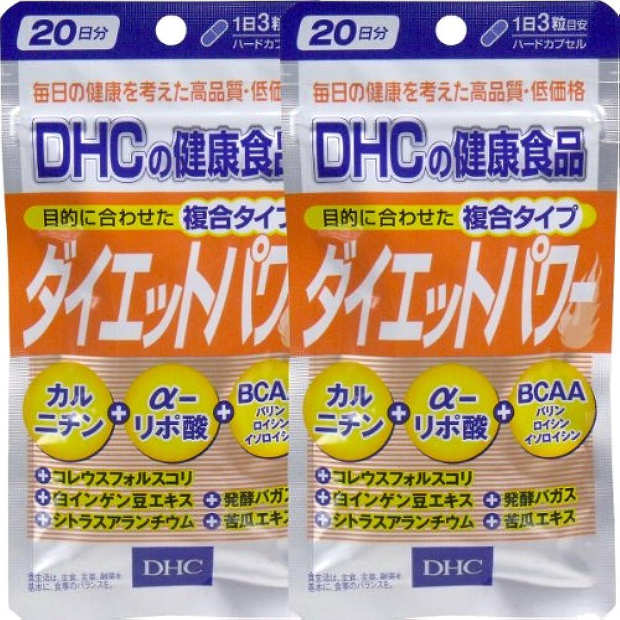 苦情文句弱める検閲DHC ダイエットパワー 20日分 60粒 ×2個セット