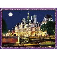 165ピース ジグソーパズル クリスタルパズル 月夜のパリ市庁舎 (ジグソーパズルタイプ)