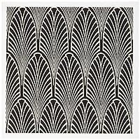 3droseアールデコクリームNブラックアーチデザイン–グリーティングカード、6x 6インチ、6のセット( GC _ 109819_ 1)