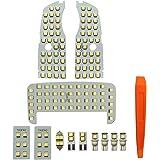 YAOFAO プリウス 30 系 LED ルームランプ プリウス/プリウスα ZVW30/ZVW40/ZVW41 サンルーフ無 車種別専用設計3チップ SMD 5050 12点セット LED取り扱い専用工具付