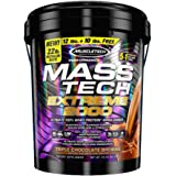 Muscletech Mass Tech Extreme Triple Chocolate Brownie Weight Gainer, 22 Pound, Green (FID36188)