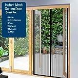 Instant Mesh Screen Door - 2 Panel Set