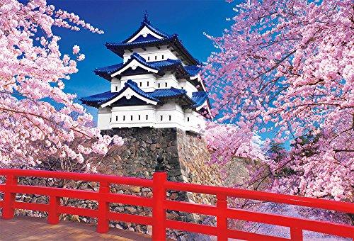 1000ピース ジグソーパズル 桜咲く弘前城(49×72cm)
