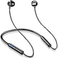 【2021版 スポーツ Bluetooth イヤホン インナーイヤー型】 ワイヤレスイヤホン ネックバンド型 マグネット…