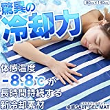 【Enet.S】驚異の冷却力[体感温度?8.8℃]♪ひんやりソルトジェルクール敷パット/シングル