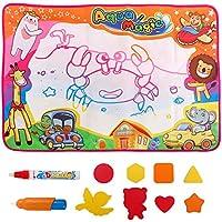 Large Aqua Magic Doddleパッド水図面マットペイントボードwith 2 Magicペン教育玩具ギフトforキッズ幼児子供男の子と女の子