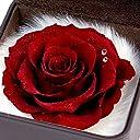 Soel Flowers ダイヤモンドローズ L (約9cm) 合皮レザーボックス