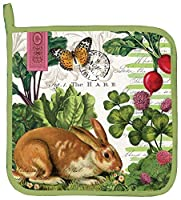 Michel Design Works Cotton Potholder, Garden Bunny [並行輸入品]