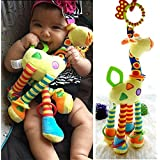 ANCHEER Baby Giraffe Travel Car Bed Stroller Hanging Toys, Soft Infant Bell Music Crib Toy, Plush Animmal Toy