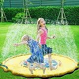 子供 プール プレイマット ウォーター プレイ アウトドア 芝生遊び 水 夏の日 子供用 おもちゃ 噴水マット ふんすい 庭 家庭用 キッズ 水遊び 噴水池 噴水できる大型プール