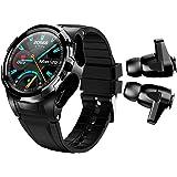 BELESH Smart Watch Bluetooth Wireless Earbuds 2 in 1 Fitness Activity Tracker Bracelet Sleep Heart Rate Blood Pressure Thermo