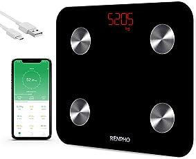RENPHO 体重・体組成計 USB充電式体重計 体脂肪計 スマートスケール Bluetooth 体重計 スマート体重計 体脂肪 体脂肪率 骨格筋 筋肉量 推定骨量 体脂水分 BMIなどをスマホで同期分析 iPhone/Androidアプリで健康管理 肥満の予防・改善 日本語対応APP