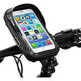 自転車 スマホ ホルダー 収納可能 防水 防圧 遮光 多機能 携帯ホルダー 6.0インチスマホ対応 iphone android 多機種対応 防水バッグ バイク スクーター ホルダー