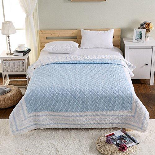君のホームカザリ ベッドカバー ベッドスプレッド マルチ カバー キルト ホームキッチ おしゃれ 上品 人気 ダブル 綿100% 150X200cm (O)