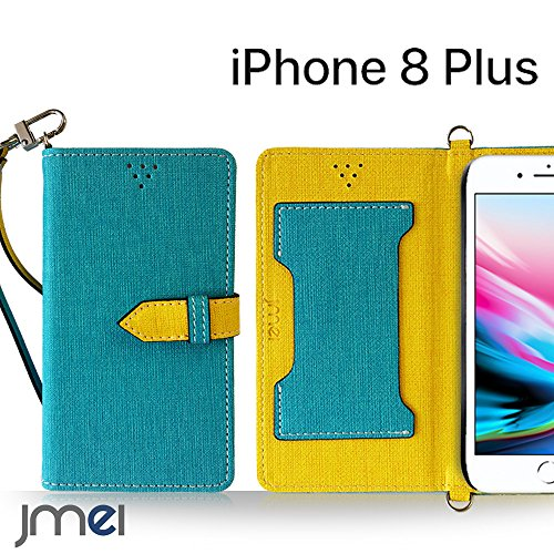 iPhone8 Plus ケース手帳型 アイフォン8 プラス カバー ブランド 手帳 閉じたまま通話ケース VESTA ブルー iphone8plus simフリー スマホ カバー 携帯ケース 手帳型 スマホケース 全機種対応 ショルダー スマートフォン