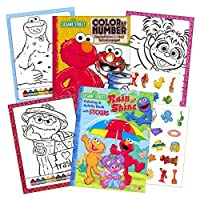 Sesame Street Stickers Toddler Coloring Book Set ~ Color By Number by Sesame Street
