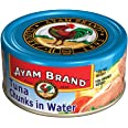 Ayam Brand Tuna Chunks in Water | Wild Caught Premium Tuna | Good Source of Protein | Omega 3, Vitamin E, B6 & B12 | Halal &