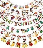 クリスマスガーランド クリスマス飾り 7本セット クリスマス旗 インテリア ガーランド デコレーション 壁飾り吊り トナカイ クリスマスツリー 店舗 学園祭イベント パーティーショップ 壁 トナカイ・サンタ・クリスマスツリー・靴下 xmas 飾り christmas decorations
