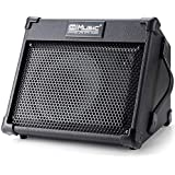 Coolmusic 40W Portable Acoustic Guitar Amplifier with Microphone Input, Built-in Bluetooth, Rechargeable Battery performance