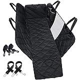 Dog Car Seat Cover, Free 2X Dog Car Seat Belt, Mesh Visual Window and Seat Belt Opening, Waterproof, Storage Pockets, 147cm x