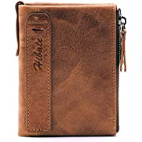 BlueCosto Men Leather Wallet RFID Blocking Men's Wallets Coin Pocket Purse