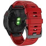 YOOSIDE QuickFit Watch Band for Garmin Fenix 6X Pro/Sapphire,26mm Soft Non-allergenic Silicone Sport Waterproof Wristband Str