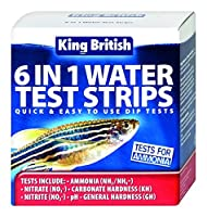 King British Test Strips 6 in 1 for Aquariums and Ponds by King British