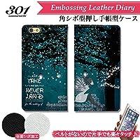 301-sanmaruichi- iPhoneXSMax ケース 手帳型 おしゃれ ティンカーベル 妖精 キャラクター ネバーランド B シボ加工 高級PUレザー 手帳ケース ベルトなし
