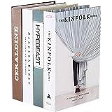 4PCS Book for Decoration Fake Book Creative Fashion Decorative Book False Book for Home Office Bar Hollowed Out Decorative Fa