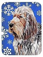 Caroline's Treasures Otterhound Winter Snowflakes Mouse Pad/Hot Pad/Trivet (SC9780MP) [並行輸入品]