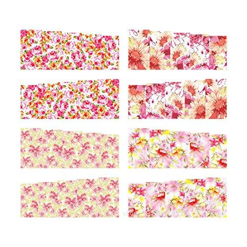 (ボルンプリティー)Born Pretty4パターンシート春の花の水ステッカーデカール絵画ネイルアート [並行輸入品]