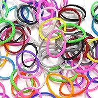 レインボールーム ファンルーム ルームバンド に使えるシリコンバンド 輪ゴム カラフル輪ゴム カラフルルームバンド 定番のスタンダードシリーズ 全21色 600本入 ミニフック付き 小型フック S字クリップ Loom Bands FunLoom rainbow loom (ミックス)