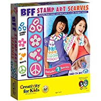 Creativity For Kids BFF Stamp Art Scarves [並行輸入品]