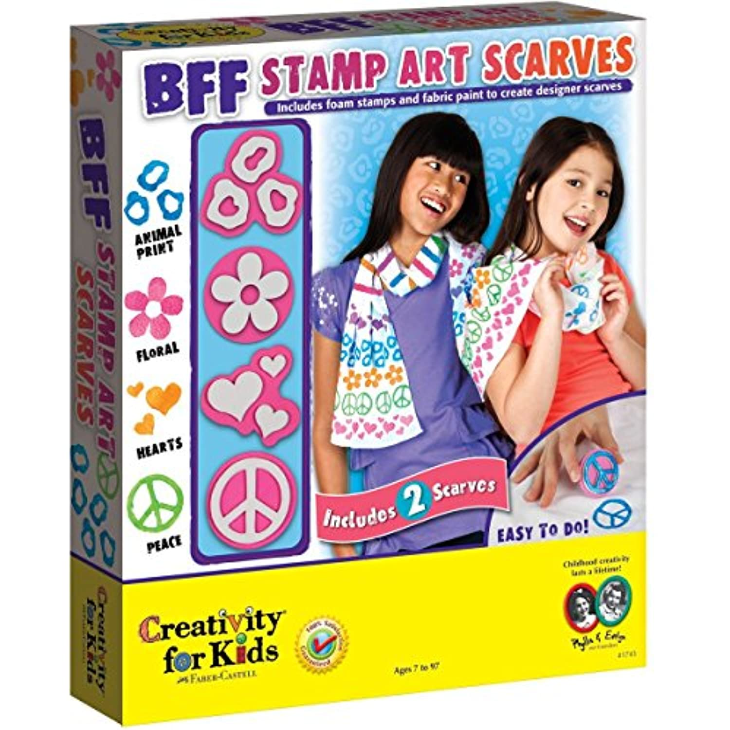 Creativity For Kids BFF Stamp Art Scarves [並行輸入品]