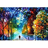 Easy DIY Paint by Number Sets with Brushes & Paints on Canvas Nature Landscape Paintworks Unique Christmas Gifts for Adults B