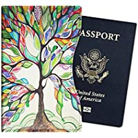 Fintie Passport Holder - Slim Premium Vegan Leather RFID Blocking Travel Wallet Case Cover, Love Tree