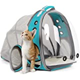 Cat Carrier Backpack, Expandable Pet Backpack for Small Dog, Space Capsule Bubble Transparent Clear Kitten Carrying Backpack
