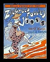 8 x 10 全木製フレーム入り写真ジグフェルドシート音楽 - ジグフェルド1915年フォルダ (こんにちは、フリコ - フォックストロ) (1)