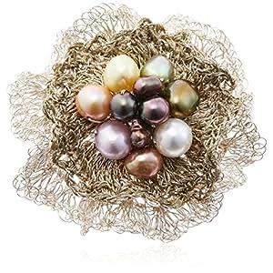[バッソ] VASSO ブローチ VA-B1s+g-mul.Pearls