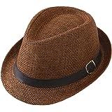 T WILKER ハット メンズ 麦わら帽子 中折れハット 吸汗速乾 敬老の日ギフト 春夏 清涼感 熱中症予防 パナマ帽…